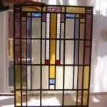 Glas in lood (werk van cursist) glasateler vetro colorito