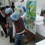 KunstPost workshop tijdens ALL INclusief Festival atrium stadhuis den haag