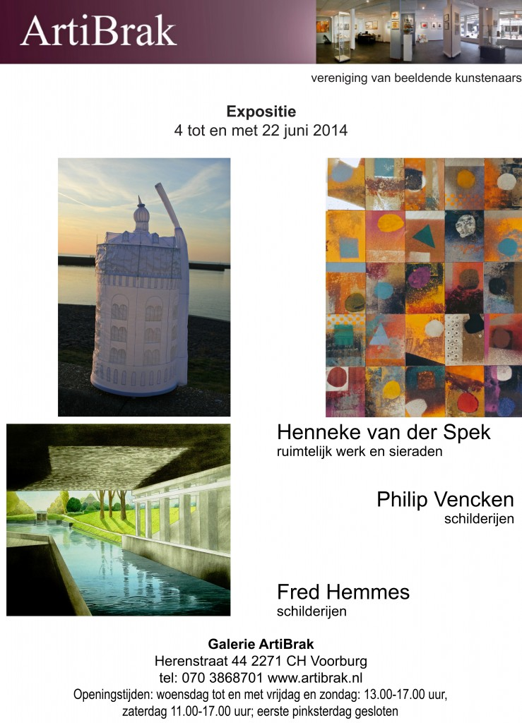 Expositie vd Spek / Vencken / Hemmes