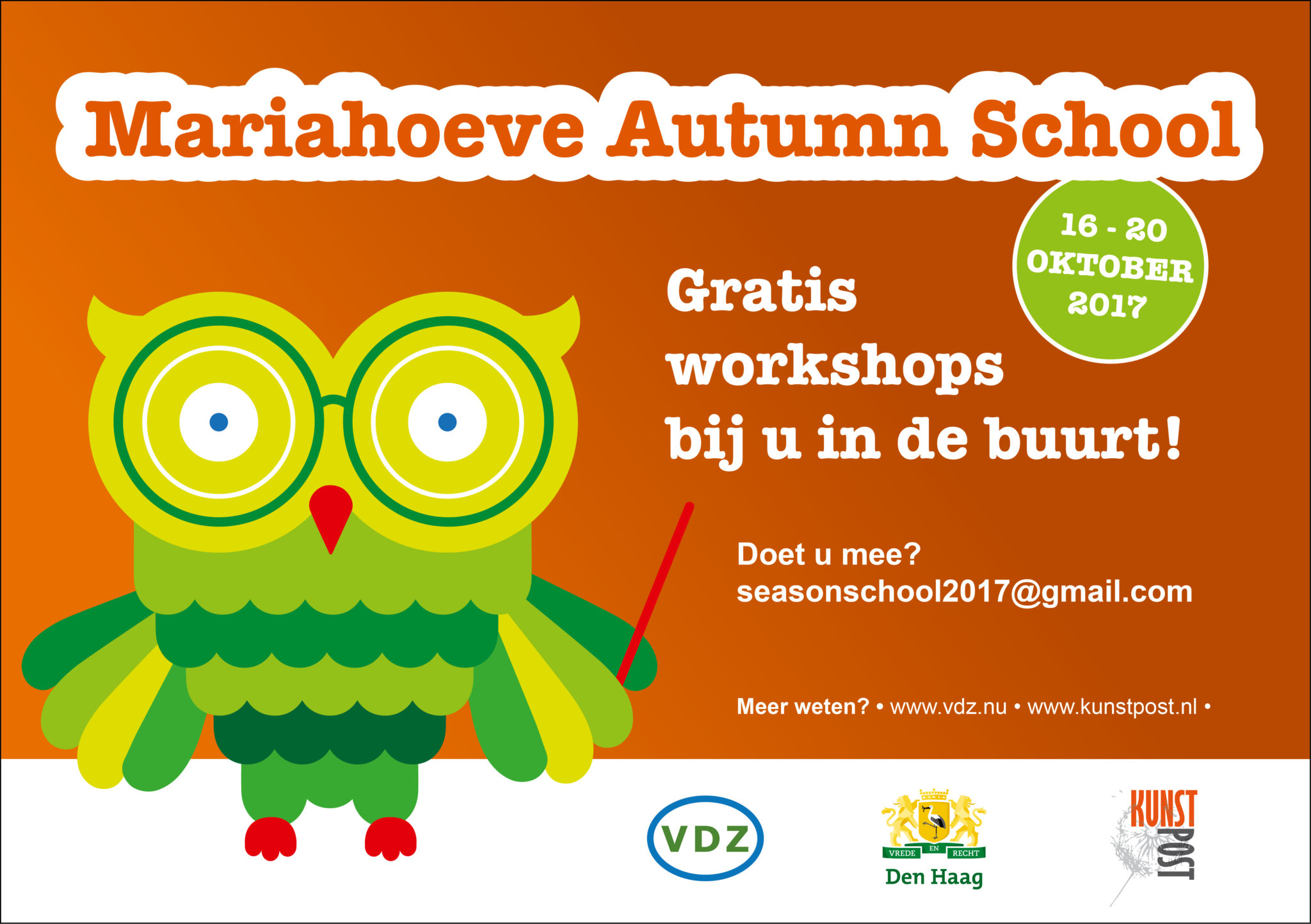 Mariahoeve Autumn School in oktober 2017