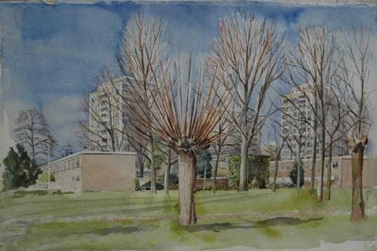 Anneloes Groot: Boekweitkamp in het vroege voorjaar (2007) kunstpost