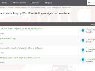 On-the-fly website wijzigingen op het forum